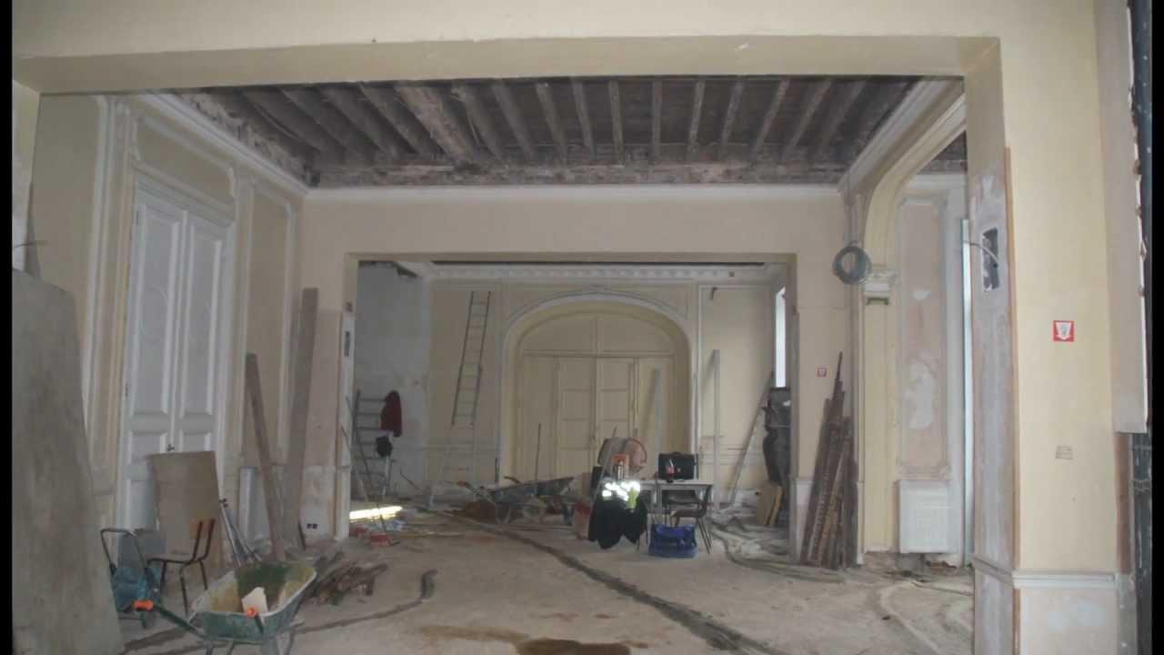 chateau d 39 amee le chantier de r novation et d 39 embellissement youtube. Black Bedroom Furniture Sets. Home Design Ideas