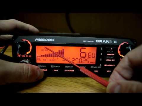 President Grant II AM/FM/SSB Export CB Overview
