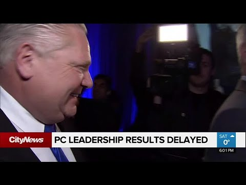 Results of Ontario PC leadership race delayed