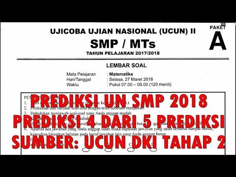 #SMP UN MATEMATIKA SMP 2018, PREDIKSI 4 DAN PEMBAHASAN (SUMBER: UCUN DKI 2018 TAHAP II / 2 PAKET A)