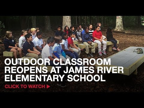Outdoor Classroom Reopens at James River Elementary School –Watch Now