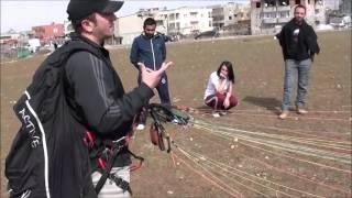 Durali KARACA  Yamaç paraşütü Yer Çalışması Eğitimi