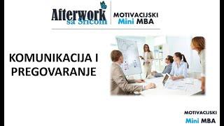 Afterwork sa Srićom - KOMUNIKACIJA I PREGOVARANJE