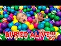 watch he video of Buried Alive Challenge! More Than 100 Layers of Ball Pit Balls Challenge!