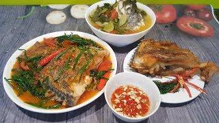 Cách nấu cá sốt cà chua, cá rán ngon và cá nấu canh chua từ 1 con cá rô phi