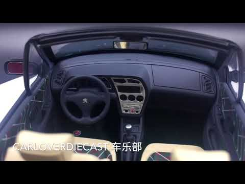 OttO Mobile - Peugeot 306 Cabriolet Roland Garros resin scale 1:18 (OT583) limited 999pcs