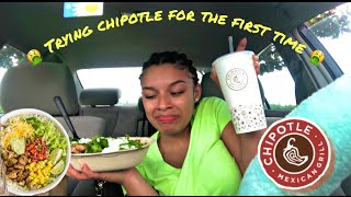 TRYING CHIPOTLE FOR THE FIRST TIME! IT'S DISGUSTING?! MUKBANG | SAM'S LIFE