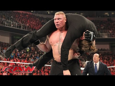 Stephanie McMahon opts to fine Brock Lesnar for his out-of-control actions: Raw, March 30, 2015 thumbnail