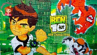 Ben 10  | Ben 10 Aliens in Action Puzzle | Animated Cartoon Network Series Puzzle Video for Kids
