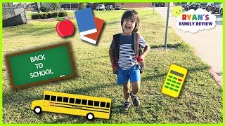 Kid First Day of School! Back to school Night Routine and Morning Routine with Ryan