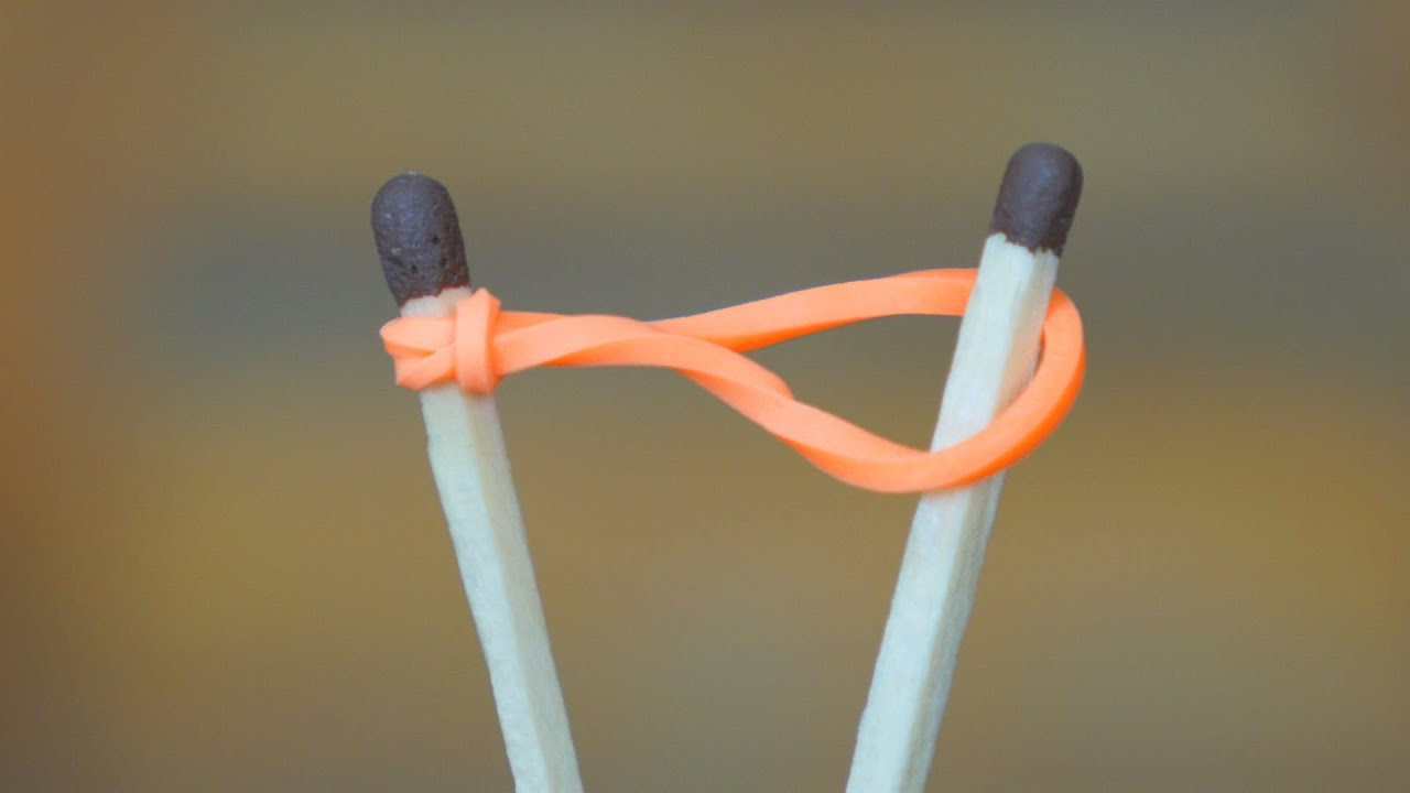 How to Light a Match with a Rubber band - YouTube