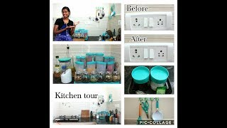 Kitchen organization/Kitchen counter top organization/Indian kitchen tour/kitchen tour