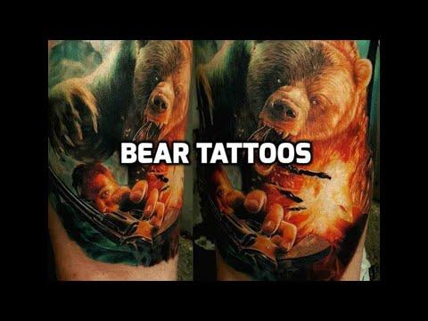 Bear Tattoos - Best bear tattoo design ideas