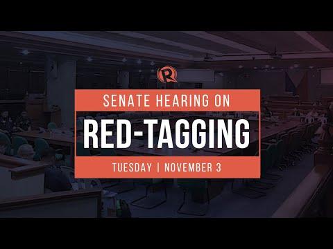 Senate hearing on red-tagging