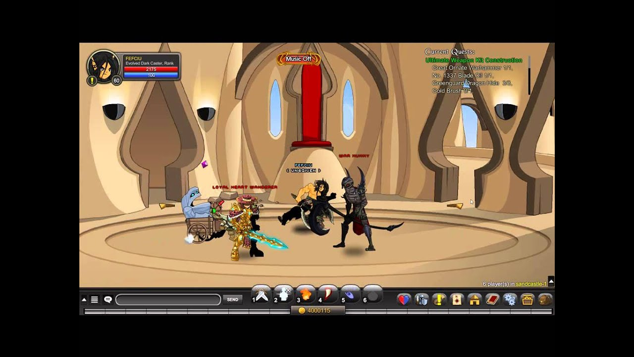 AQW - Quest `Ultimate Weapon Kit Construction`