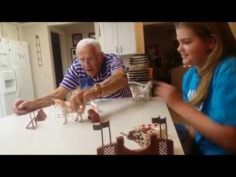 Saylor Beth Spears and Grandpa Cecil (90 yrs) Jumping Horses | July 4th 2016