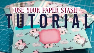 "Lots of Pretty Envelopes! TUTORIAL & Channel/Life Update | ""Use Your Paper"" Series: Idea #1"