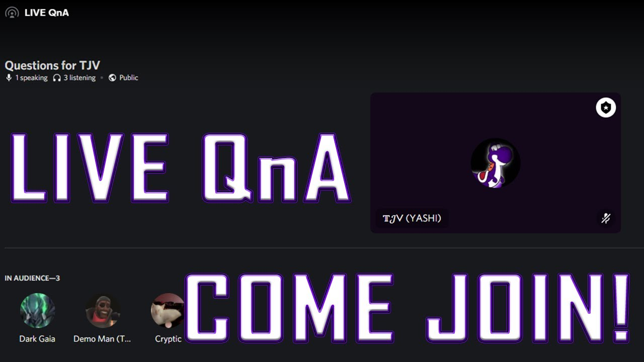 🔴 Live QnA - StageVC in my Discord! 🔴