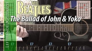 The Beatles - The Ballad of John and Yoko guitar lesson