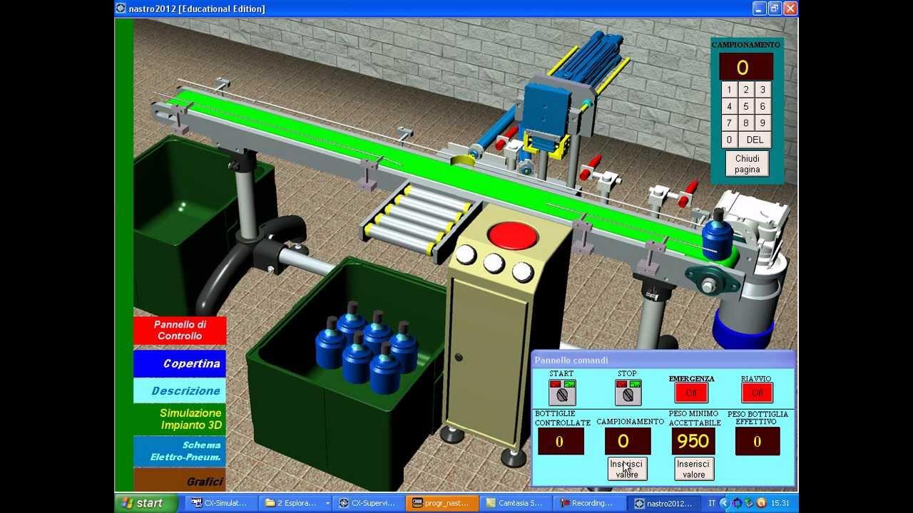 Smart Project Omron 2013, Impianto per il Controllo a Campione del Peso di Bottiglie