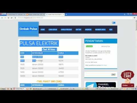 Web Pulsa - Edit Excel Produk