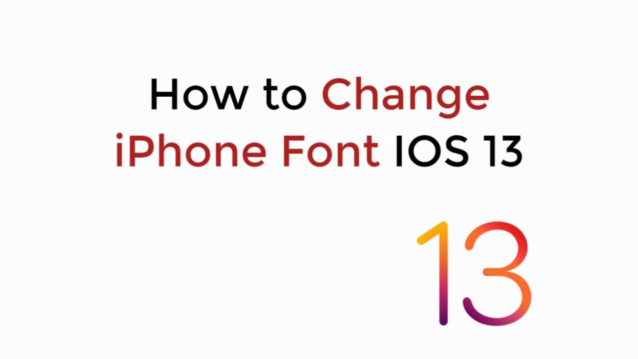 IOS 13 : How to Change iPhone Keyboard Font IOS 13 (No Jailbreak)