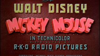 "Mickey Mouse - ""Canine Caddy"" (1941) - recreation titles"