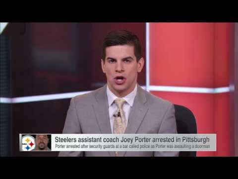 Steelers assistant coach Joey Porter arrested shortly after win - SportsCenter (01-09-2017)