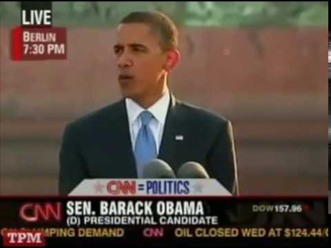 Barack Obama on Cosmopolitanism, World Citizenship (Berlin, July 24, 2008)