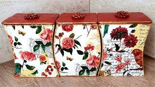 DIY /Kitchen Organizer Idea of Waste Cardboard / Kitchen storage idea