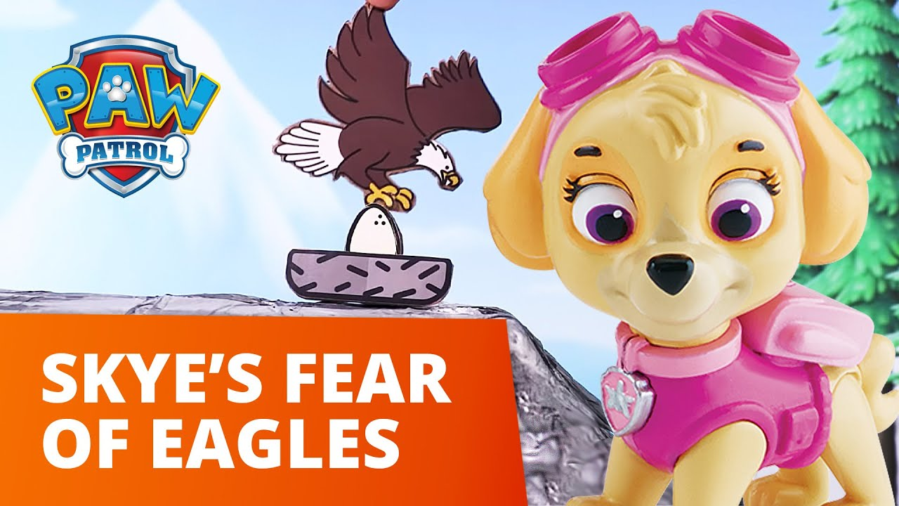 PAW Patrol | Skye Faces Her Fear of Eagles to Rescue the Egg! | Toy Episode