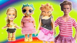 НОВАЯ СЕМЕЙКА ЛОЛ - ЛОЛОМАНИЯ. Играем с куклами Мама Барби