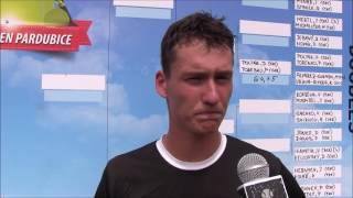 David Poljak po výhře v prvním kole deblu na turnaji Futures v Pardubicích