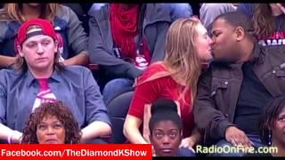 Woman Kisses Random After Her Boyfriend Ignores Kiss-Cam (Diamond K Show)