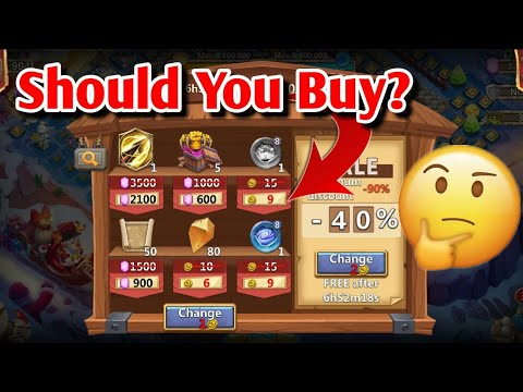 What Is Worth Buying From DISCOUNT STORE? Castle Clash
