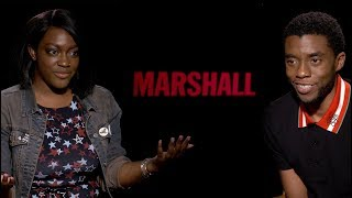 """BGN Interview:  Joi talks with Chadwick Boseman about his new film, """"Marshall"""""""