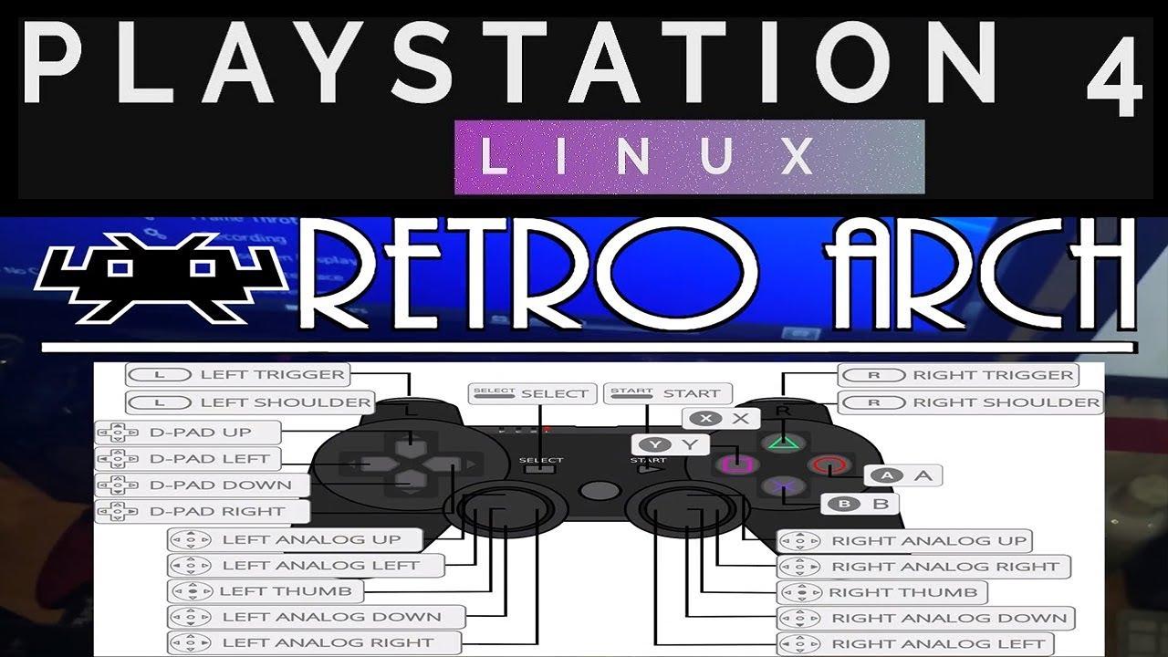 RetroArch PS4 controller setup configuration for PS4 LINUX
