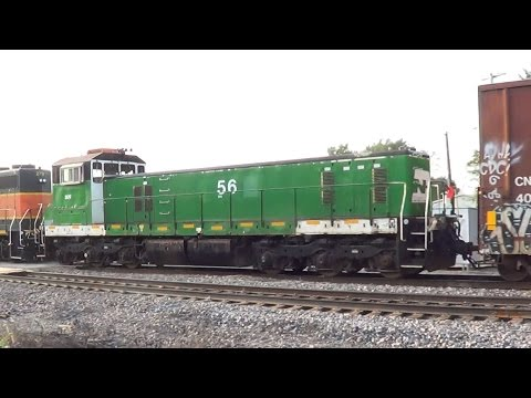 BN Slug with BNSF SD40-2 and Geep on Mixed Freight