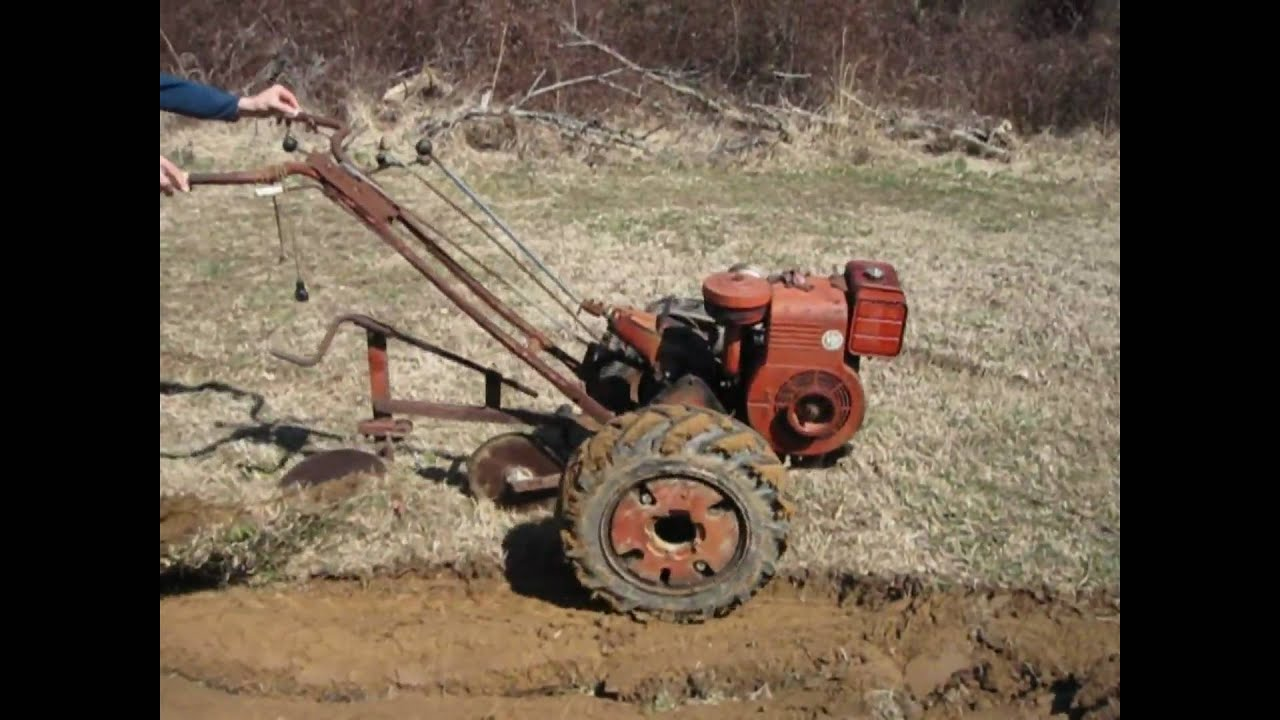 Antique Two Wheel Tractor : Simplicity vb garden tractor plowing disking funnydog tv