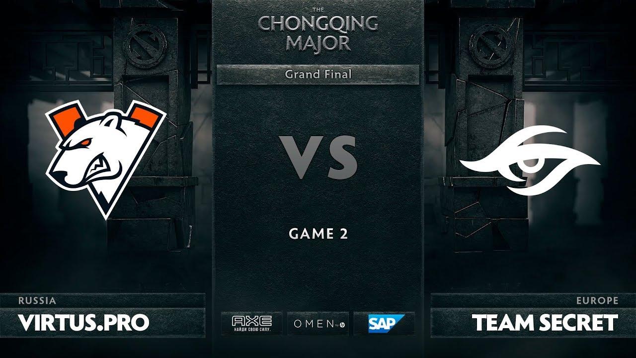 [RU] Virtus.pro vs Team Secret, Game 2, The Chongqing Major Grand Final