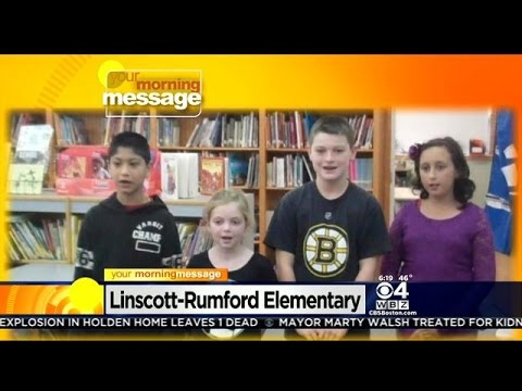 Your Morning Message: October 27, 2014:Linscott-Rumford Elementary School in Woburn, MA