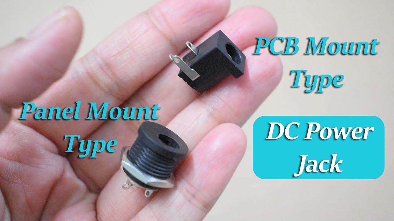 DC Power Supply Jack | DC Socket | PCB & Cabinet Mounting Type - YouTubeYouTube