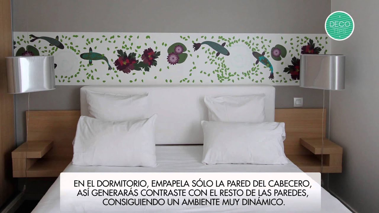 Papel tapiz para decorar youtube for Ideas para decorar paredes infantiles