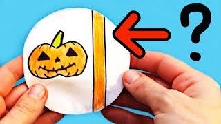 бУМАЖНЫЙ СЮРПРИЗ НА ХЭЛЛОУИН, как сделать своими руками  Распаковка бумажного шара