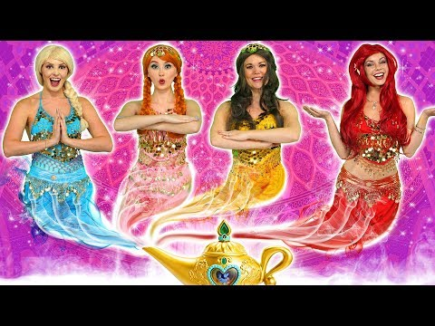 DISNEY PRINCESS GENIES What Happens to Ariel Elsa Belle Jasmine Rapunzel and Anna?