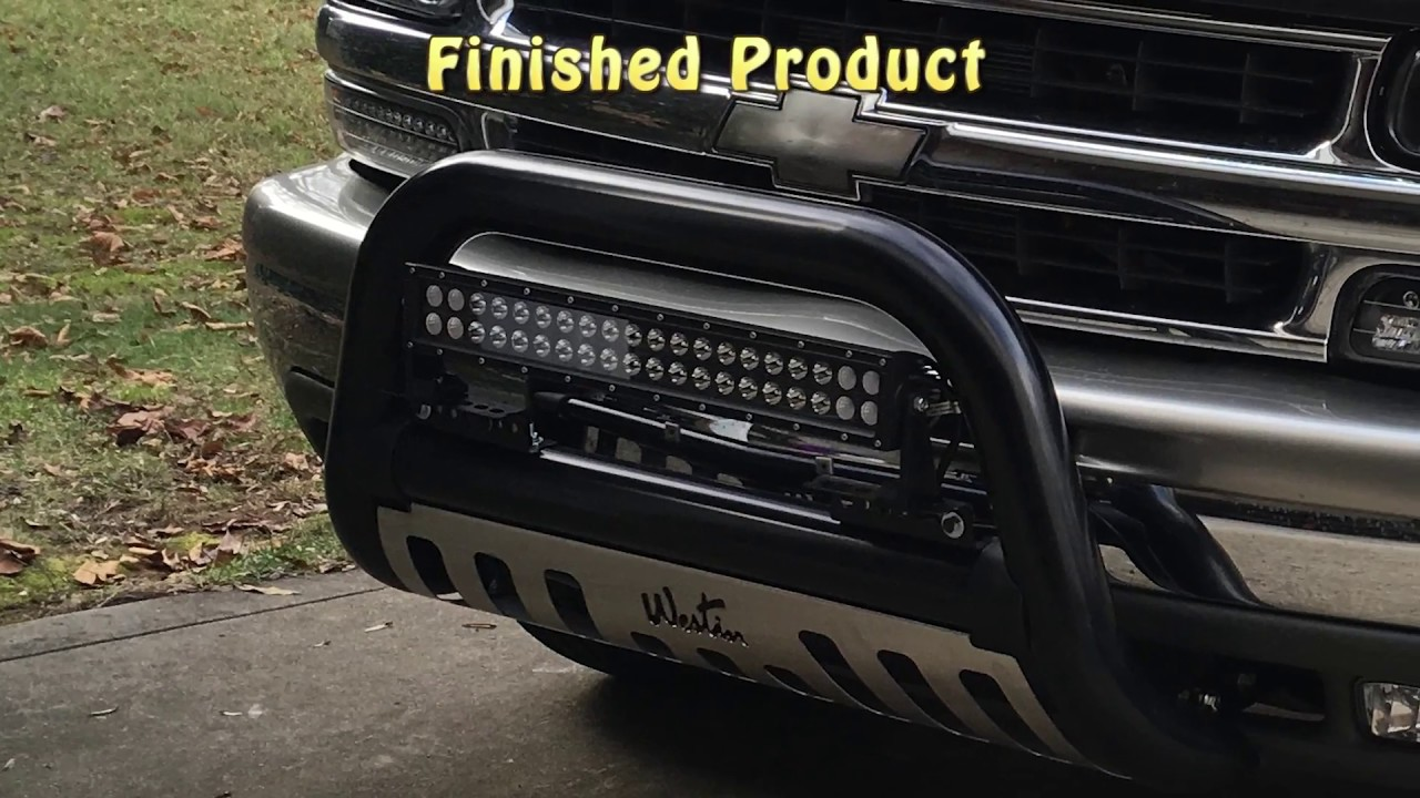 Installing a Westin Bull Bar on Chevy Tahoe GM Truck - YouTube