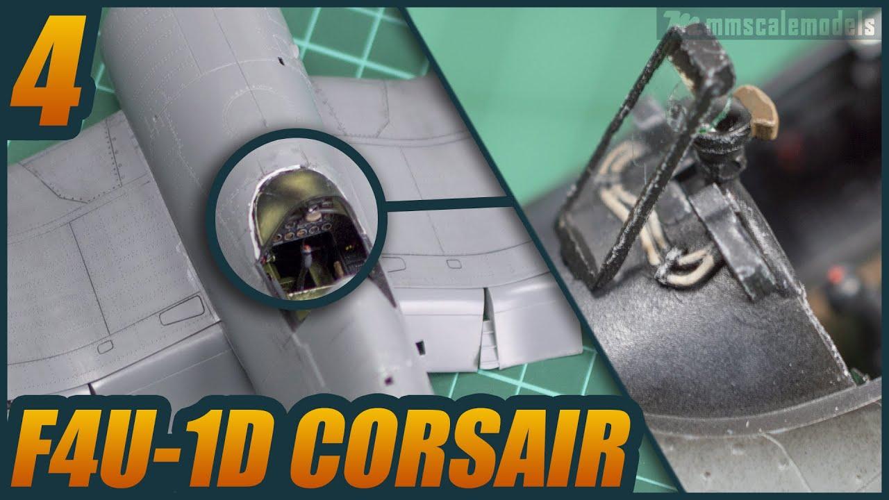 1/48 F4U-1D Corsair - ep 4 - Tamiya plastic scale model build