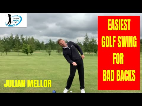 EASIEST SWING IN GOLF, GOLF SWING FOR BAD BACKS, SENIOR GOLFER SPECIALIST