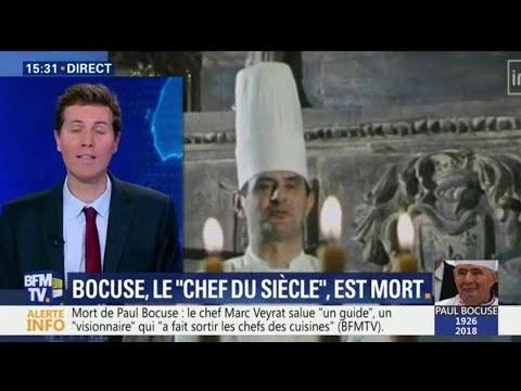 """Paul Bocuse """"a été le premier à médiatiser les chefs"""", dit le chef cuisinier de l'Elysée"""