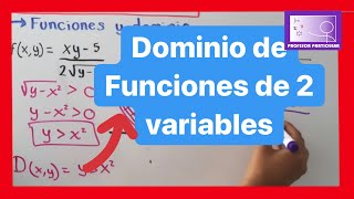 Dominio en funciones de dos o más variables | Calculo multivariable